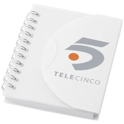 Picture of POST A7 SPIRAL NOTE BOOK with Blank Pages in White Solid-transparent Clear Transparent