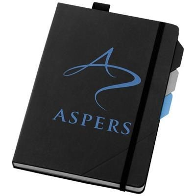 Picture of ALPHA NOTE BOOK with Page Divider Set in Black Solid