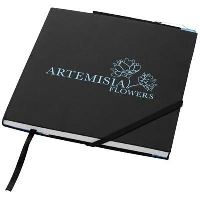 Picture of DELTA HARD COVER NOTE BOOK in Black Solid