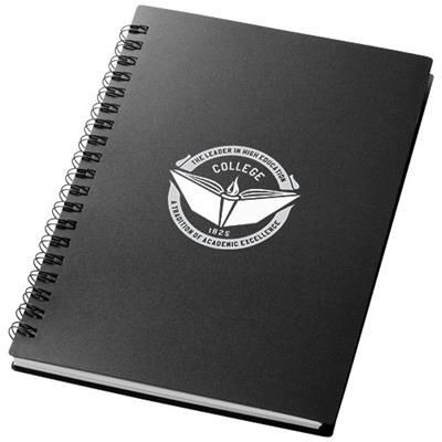 Picture of DUCHESS SPIRAL NOTE BOOK in Black Solid