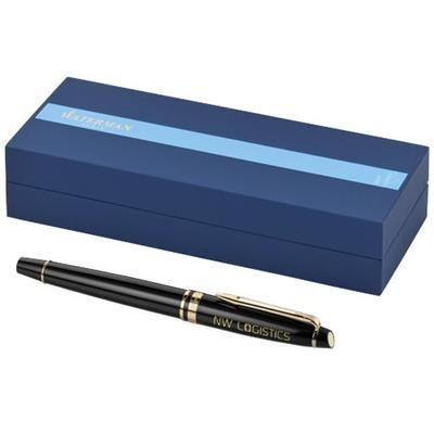 Picture of EXPERT ROLLERBALL PEN in Black Solid-gold