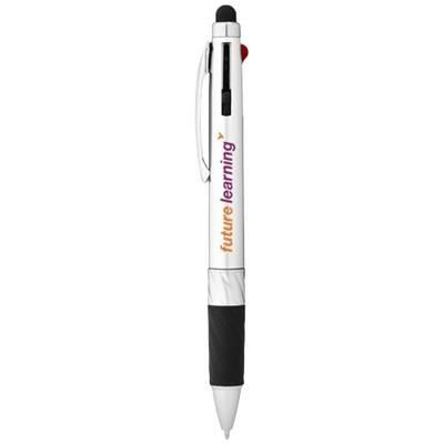 Picture of BURNIE MULTI-INK STYLUS BALL PEN in Silver