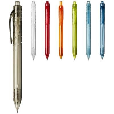 Picture of VANCOUVER RECYCLED PET BALL PEN in Clear Transparent Purple