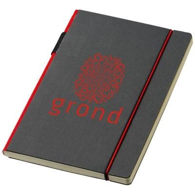 Picture of CUPPIA A5 HARD COVER NOTE BOOK in Black Solid-red