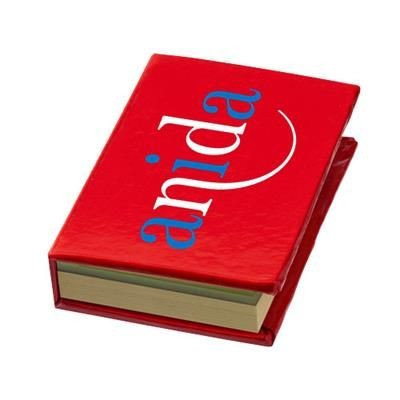 Picture of STORM STICKY NOTES BOOKLET in Red