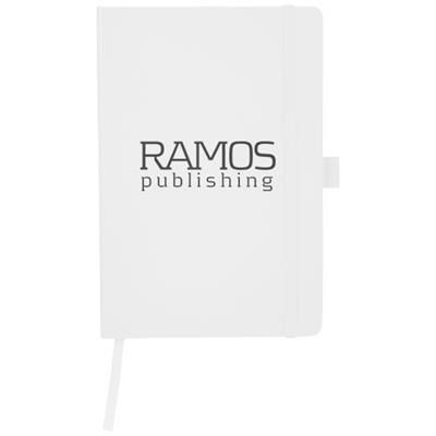 Picture of FLEX A5 NOTE BOOK with Flexible Back Cover in White Solid
