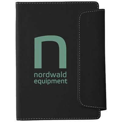 Picture of HORSENS A5 NOTE BOOK AND STYLUS BALL PEN in Black Solid