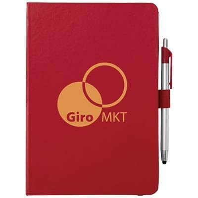 Picture of CROWN A5 NOTE BOOK AND STYLUS BALL PEN in Red