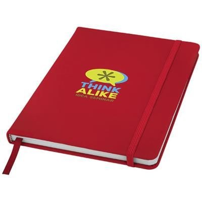 Picture of SPECTRUM A5 HARD COVER NOTE BOOK in Red