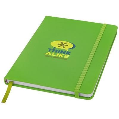 Picture of SPECTRUM A5 HARD COVER NOTE BOOK in Lime