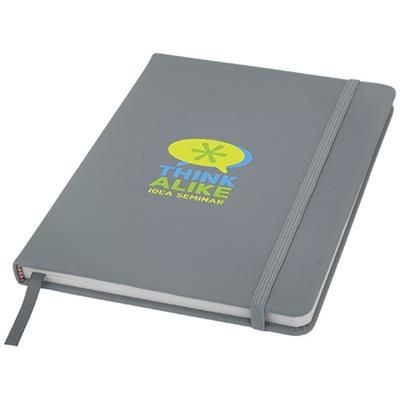 Picture of SPECTRUM A5 HARD COVER NOTE BOOK in Silver