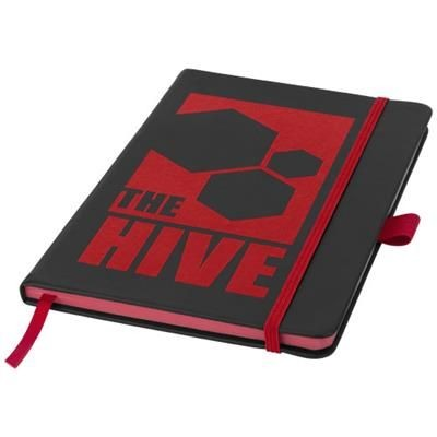 Picture of COLOUR EDGE A5 NOTE BOOK in Black Solid-red