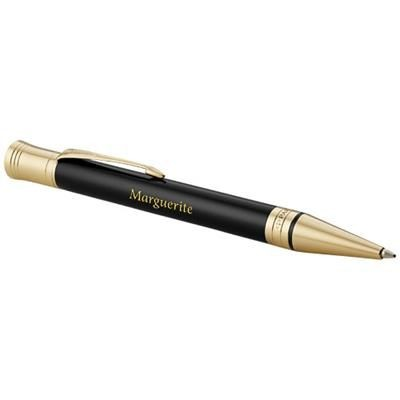 Picture of DUOFOLD PREMIUM BALL PEN in Black Solid-gold