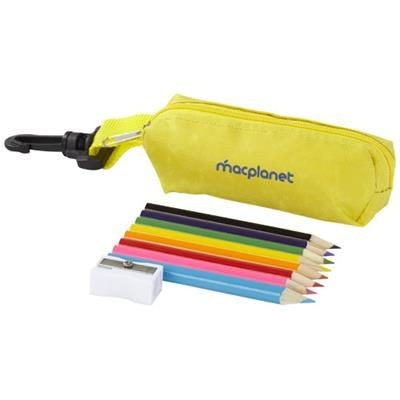 Picture of JIMBO 8-PIECE COLOUR PENCIL SET in Yellow