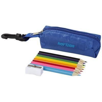 Picture of JIMBO 8-PIECE COLOUR PENCIL SET in Blue