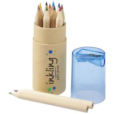 Picture of HEF 12-PIECE COLOUR PENCIL SET with Sharpener in Blue