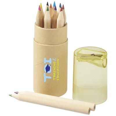 Picture of HEF 12-PIECE COLOUR PENCIL SET with Sharpener in Yellow