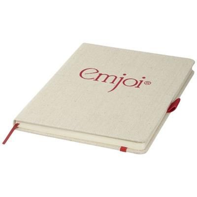 Picture of LUNA A5 CANVAS NOTE BOOK in Red