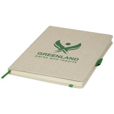 Picture of LUNA A5 CANVAS NOTE BOOK in Green