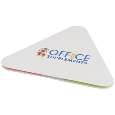 Picture of TRIANGULAR STICKY PAD in White Solid
