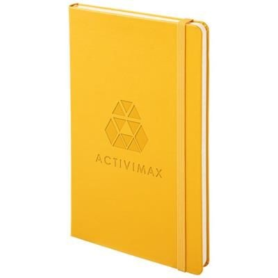 Picture of CLASSIC L HARD COVER NOTE BOOK - RULED in Orange-yellow