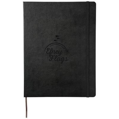 Picture of CLASSIC XL HARD COVER NOTE BOOK - RULED in Black Solid