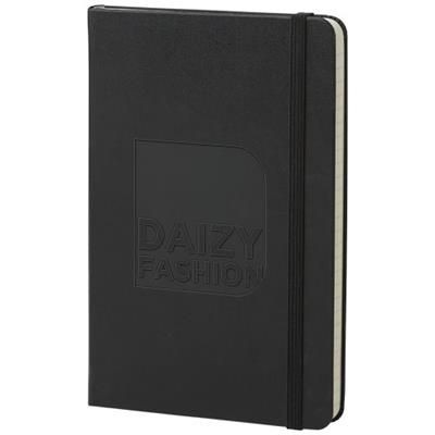 Picture of CLASSIC M HARD COVER NOTE BOOK - RULED in Black Solid