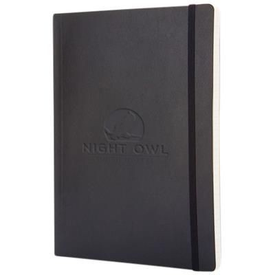 Picture of CLASSIC XL SOFT COVER NOTE BOOK - RULED in Black Solid
