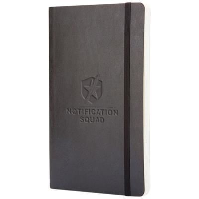 Picture of CLASSIC L SOFT COVER NOTE BOOK - RULED in Black Solid