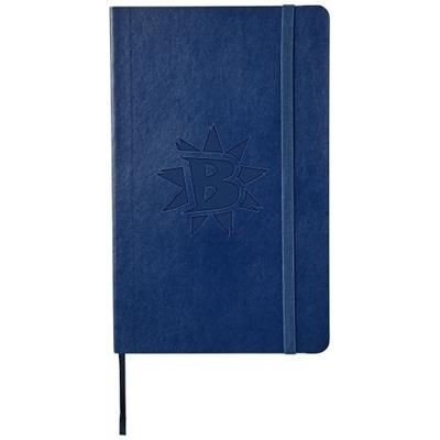 Picture of CLASSIC L SOFT COVER NOTE BOOK - RULED in Sapphire