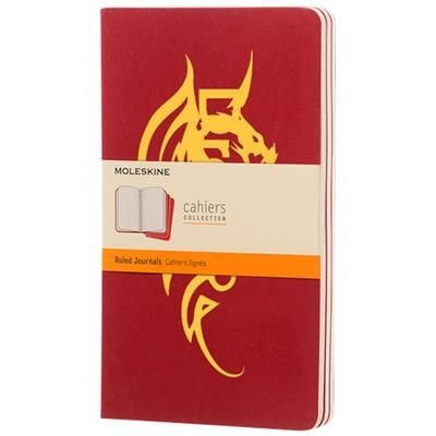 Picture of CAHIER JOURNAL L - RULED in Cranberry Red