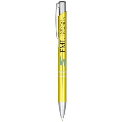 Picture of MONETA ANODIZED ALUMINIUM METAL CLICK BALL PEN in Gold