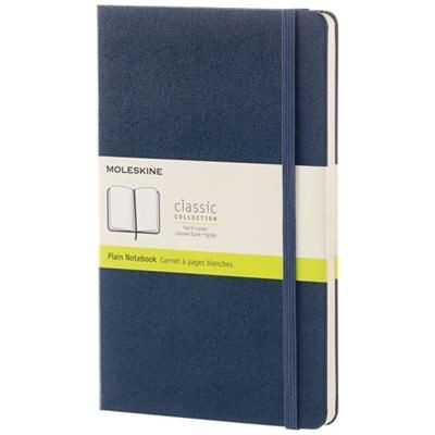 Picture of CLASSIC L HARD COVER NOTE BOOK - PLAIN in Sapphire