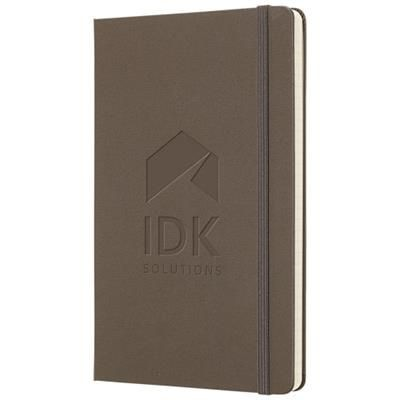 Picture of CLASSIC L HARD COVER NOTE BOOK - PLAIN in Earth Brown