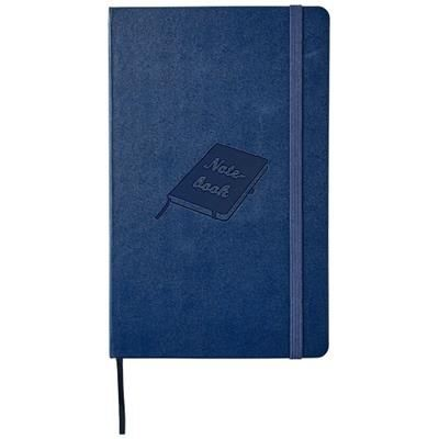 Picture of CLASSIC L HARD COVER NOTE BOOK - SQUARED in Sapphire