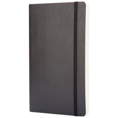 Picture of CLASSIC L SOFT COVER NOTE BOOK - SQUARED in Black Solid