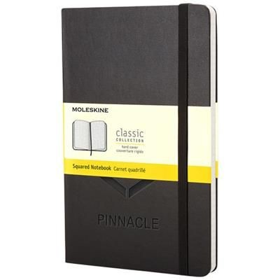Picture of CLASSIC PK HARD COVER NOTE BOOK - SQUARED in Black Solid