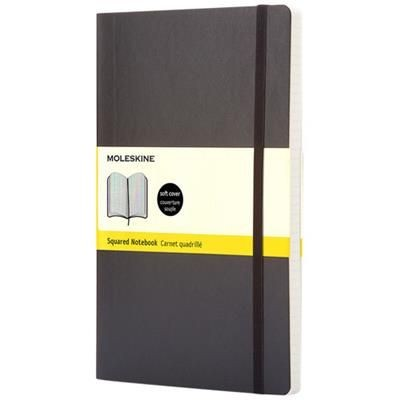 Picture of CLASSIC PK SOFT COVER NOTE BOOK - SQUARED in Black Solid