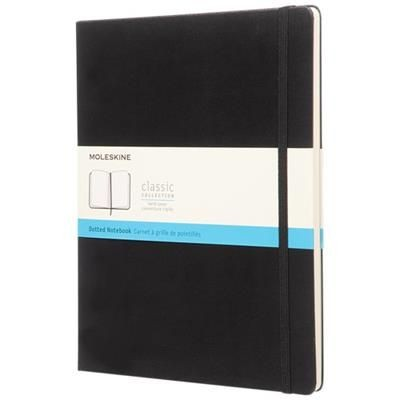 Picture of CLASSIC XL HARD COVER NOTE BOOK - DOTTED in Black Solid