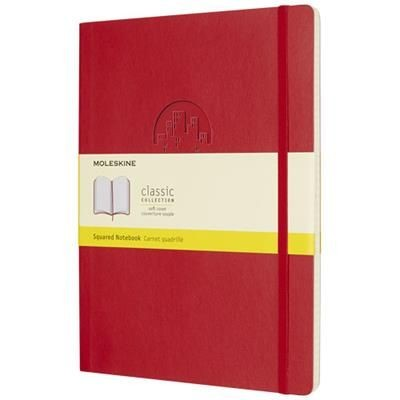 Picture of CLASSIC XL SOFT COVER NOTE BOOK - SQUARED in Scarlet Red