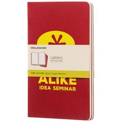 Picture of CAHIER JOURNAL L - PLAIN in Cranberry Red