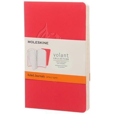 Picture of VOLANT JOURNAL PK RULED in Geranium Red