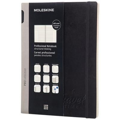 Picture of PRO NOTE BOOK XL SOFT COVER in Black Solid