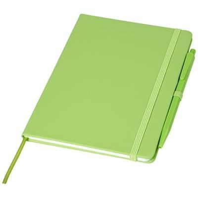 Picture of PRIME MEDIUM SIZE NOTE BOOK with Pen in Lime