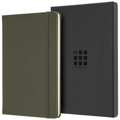 Picture of CLASSIC L LEATHER NOTE BOOK - RULED in Moss Green