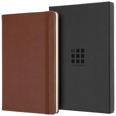 Picture of CLASSIC L LEATHER NOTE BOOK - RULED in Sienna Brown