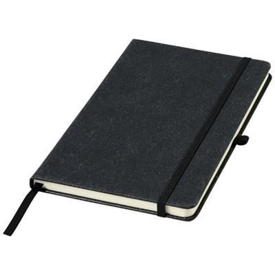 Picture of ATLANA LEATHER PIECES NOTE BOOK in Black Solid