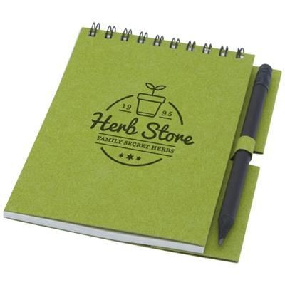 Picture of LUCIANO ECO WIRE NOTE BOOK with Pencil - Small in Green