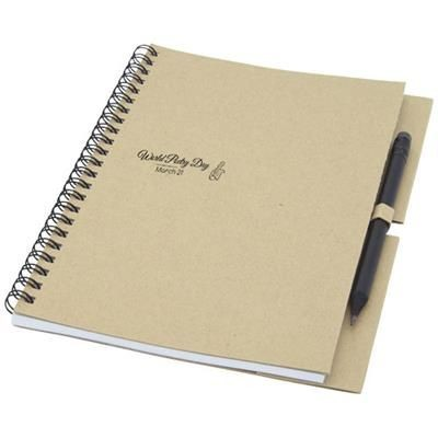 Picture of LUCIANO ECO WIRE NOTE BOOK with Pencil - Medium in Natural