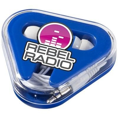 Picture of REBEL EARBUDS in Royal Blue-white Solid